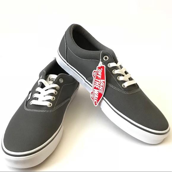 dc743312e18d Men s Canvas Grey (pewter) white Vans sneaker 10.5
